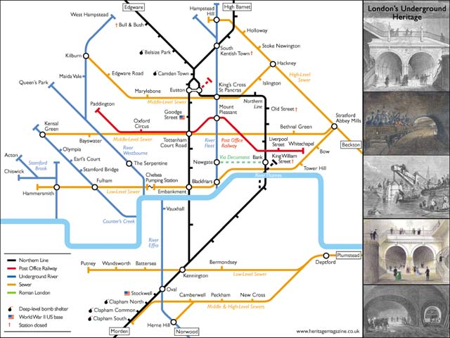 Underground London - Northern line map london